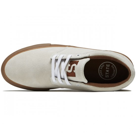 State Elgin Shoes - White/Gum Suede - 8.0
