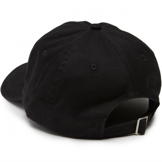 Sausage Praying Finger Brushed Twill Strapback Hat - Black/White/Black