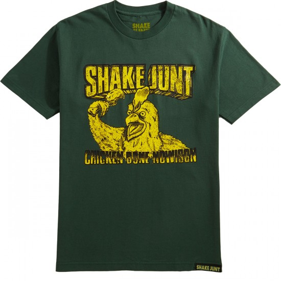 Shake Junt Chicken Bone T-Shirt - Forest Green