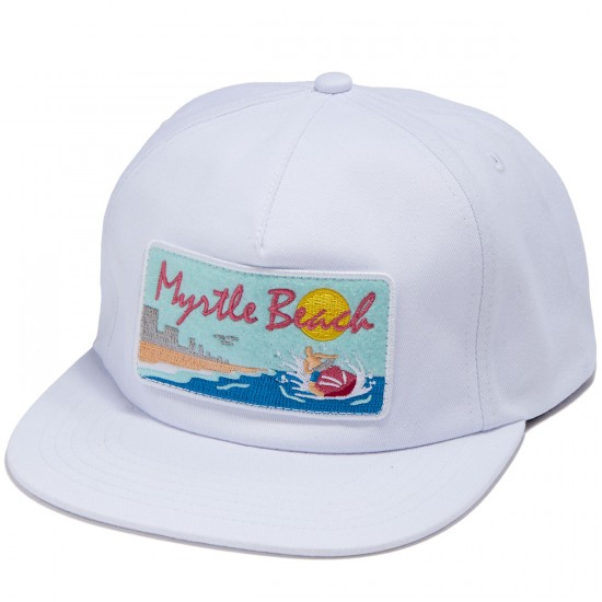 Skate Mental Myrtle Beach Hat - White