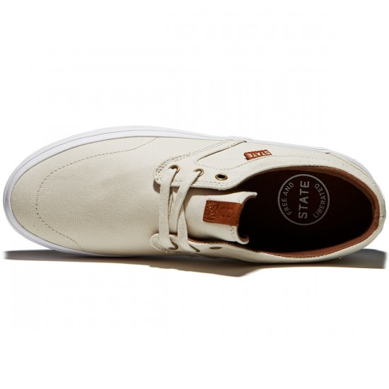 State Bishop Shoes - Cream/White Canvas - 10.0