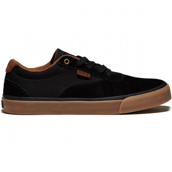 State Madison Shoes - Black/Gum Suede - 8.0