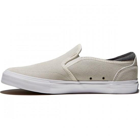 State Keys Shoes - Cream/Pewter Suede - 10.0