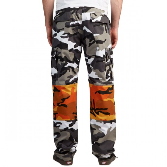 DGK X Gnarcotic Dirty OG Cargo Pants - Black/White Camo - 28 - 32