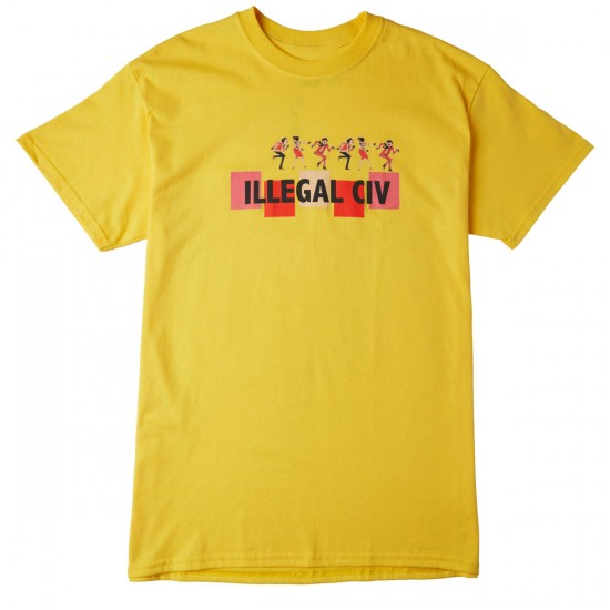 Illegal Civilization Dance T-Shirt - Yellow