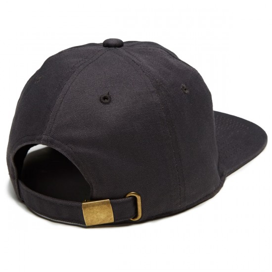 Beer And Wallrides 6 Panel Logo Hat - Charcoal
