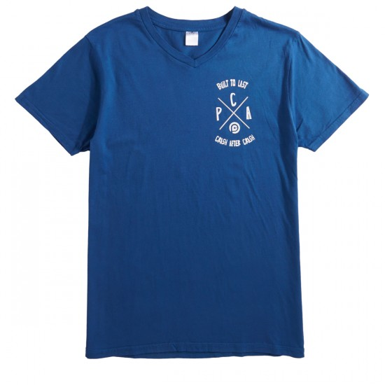 Push Culture Built to Last T-Shirt - Blue