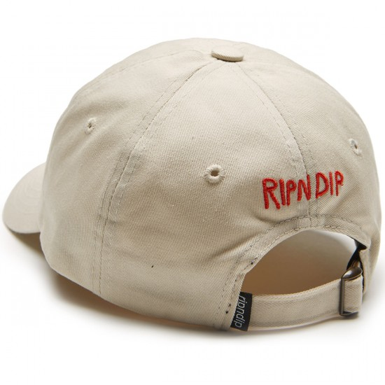 Rip N Dip Nermshroom Dad Hat - Natural