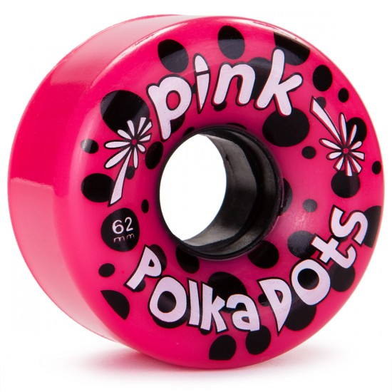 Abec11 Pink Polka Dots Longboard Wheels 62mm