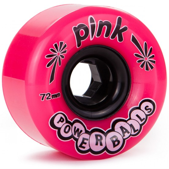 Abec11 Pink Powerballs Longboard Wheels 72mm