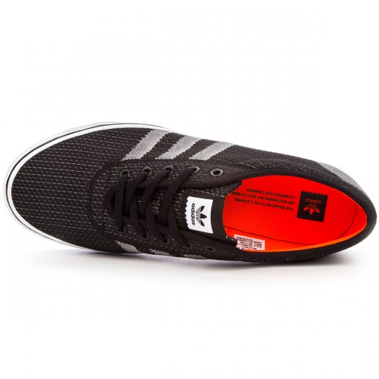 Adidas adi Ease Cup Shoes - Black/White/Solar Red - 4.0