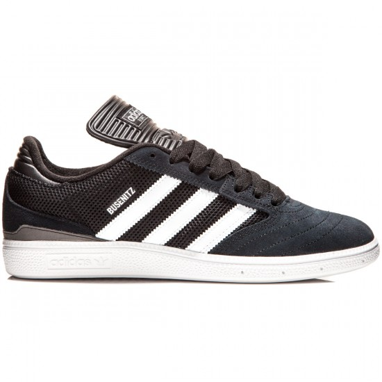 Adidas Busenitz Shoes - Black/White/Silver Metallic - 7.0
