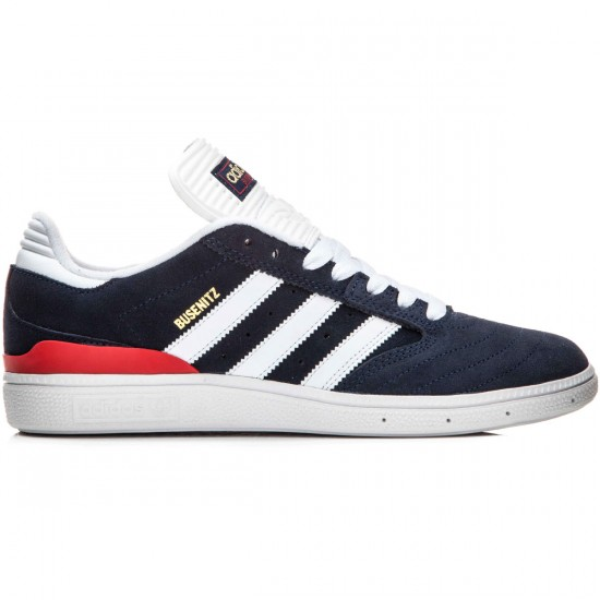 Adidas Busenitz Shoes - Navy/White/Scarlet - 10.0