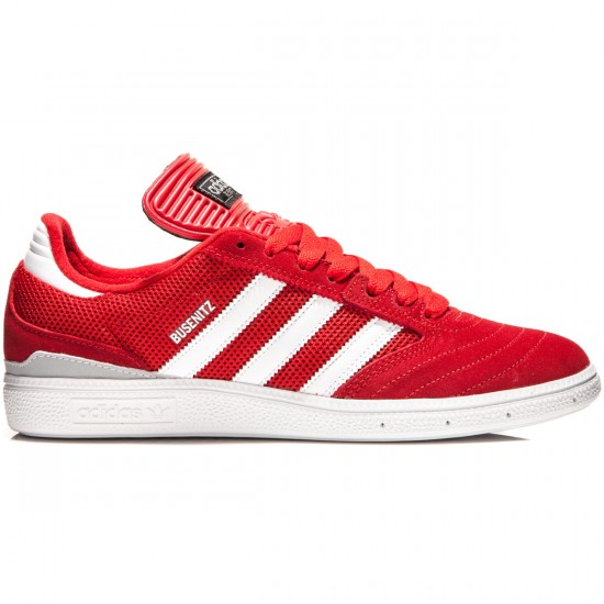 Adidas Busenitz Shoes - Scarlet/White/Silver Metallic - 7.0