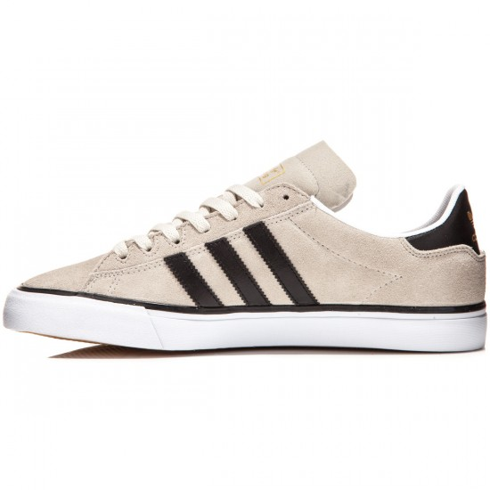 Adidas Campus Vulc II Shoes - Mist Stone/Black/Gold Metallic - 8.0