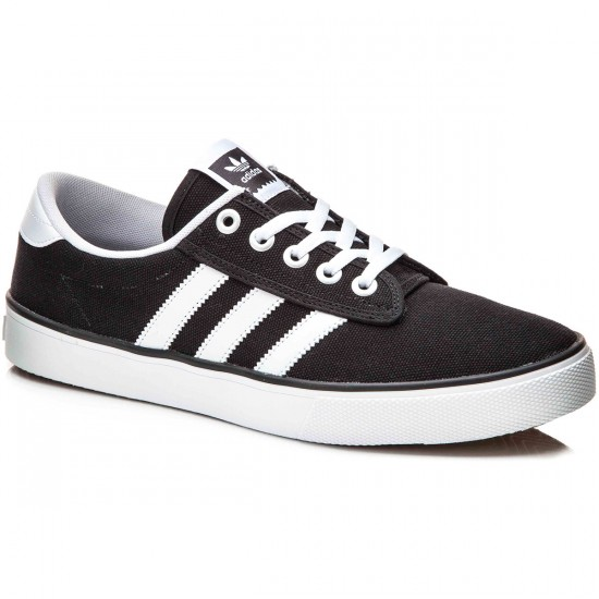 Adidas Kiel Shoes - Black/White/Carbon - 10.0