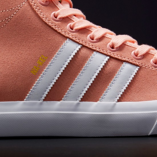 Adidas Na-Kel Matchcourt High RX Shoes - Haze Coral/White/Haze Coral - 8.0
