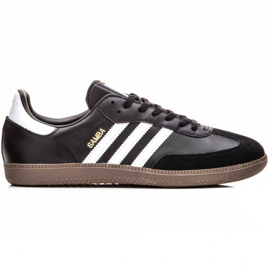 Adidas Samba Shoes - Black/White/Gum - 6.0