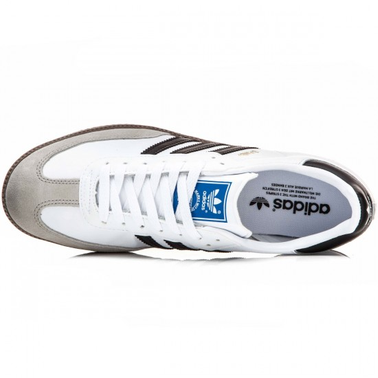 Adidas Samba Shoes - White/Black/Gum - 6.0