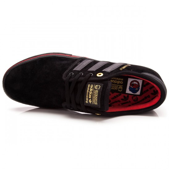 Adidas Seeley ADV Shoes - Black/Carbon/Red - 6.5