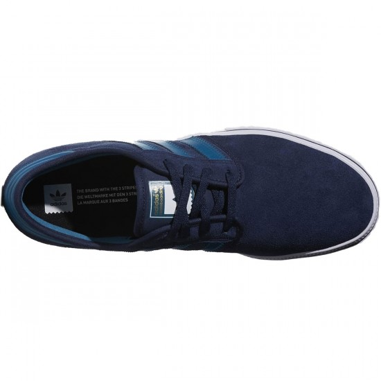 Adidas Seeley ADV Shoes - Navy/Surf/White - 4.5