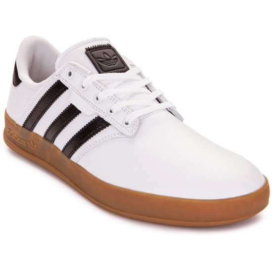 Adidas Seeley Cup Shoes - White/Black/Gum - 4.0