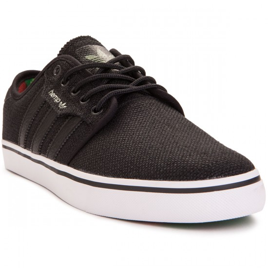 Adidas Seeley Hemp Shoes - Black/Green/Scarlet - 7.0