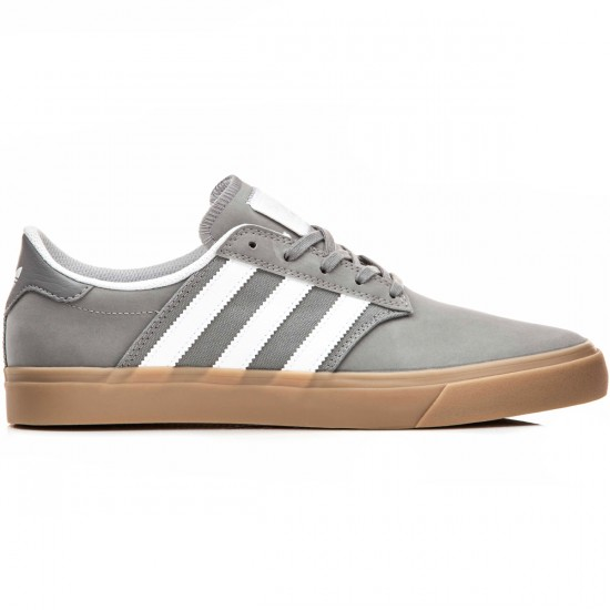 Adidas Seeley Premiere Shoes - Grey/White/Gum - 10.0