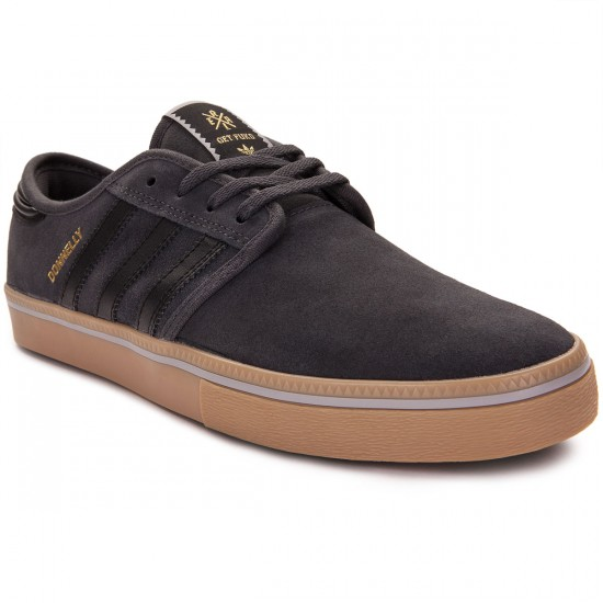 Adidas Seeley Pro Jake Donnelly Shoes - Grey/Black/Gum X REAL - 8.0