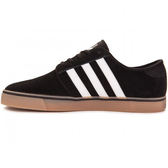 Adidas Seeley Shoes - Black/White/Gum - 7.0