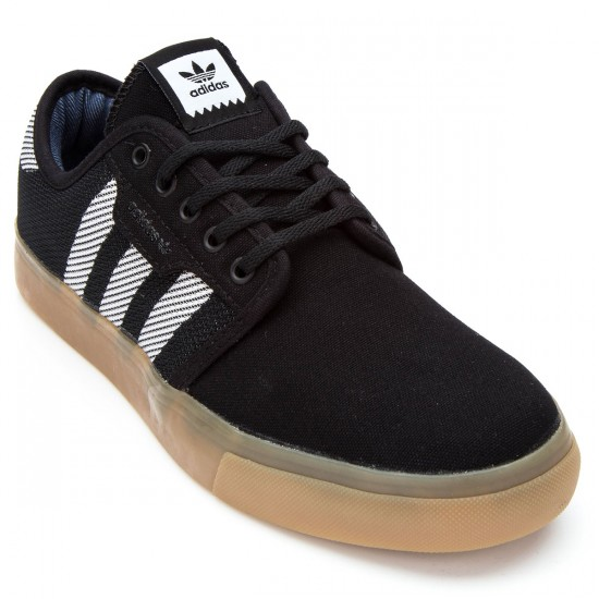 Adidas Seeley Woven Shoes - Black/White/Gum - 6.0