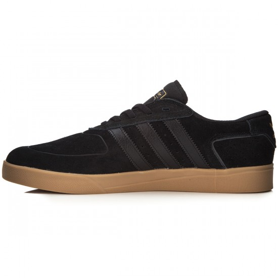 Adidas Silas Vulc Adv Shoes - Black/Black/Gold Metallic - 7.0
