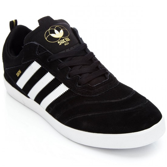 Adidas Suciu ADV Shoes - Black/White/Gold Metallic - 8.0