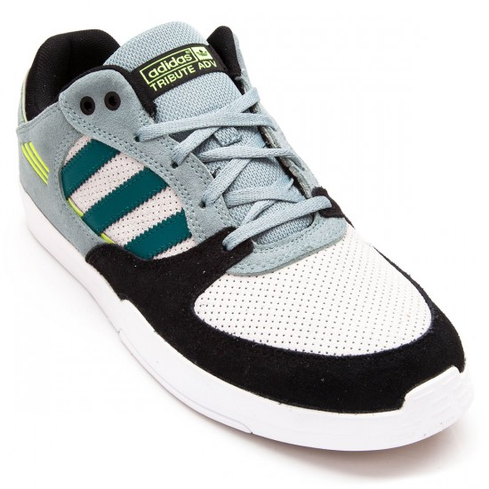 Adidas Tribute Adv Shoes - Green/Black/Yellow - 6.0