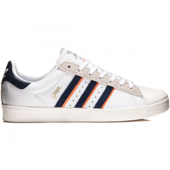 Adidas X Alltimers Superstar Vulc Shoes - White/Navy/St. Tropic Melon - 8.0