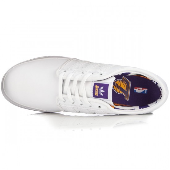 Adidas X NBA Seeley Shoes - White/Gold/Purple - 10.0