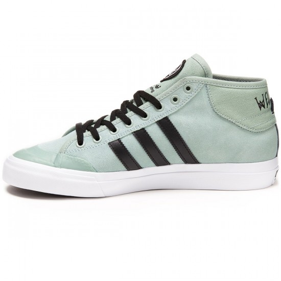 Adidas X Welcome Matchcourt Mid Shoes - Slate/Black/White - 6.0