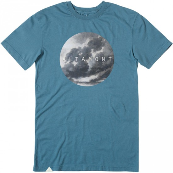 Altamont Bad Clouds T-Shirt - Dusty Blue