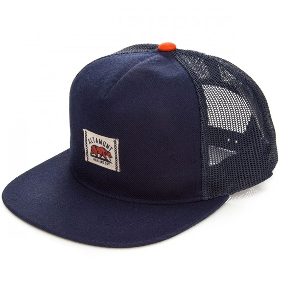 Altamont Dickson Trucker Hat - Navy/Orange