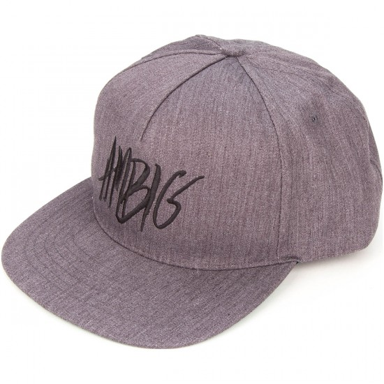 Ambig Scribble Snapback Hat - Heather Grey