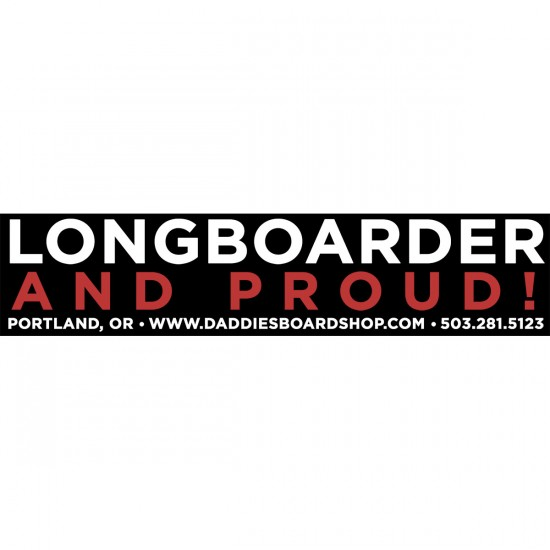 Longboarder and Proud Daddies Sticker