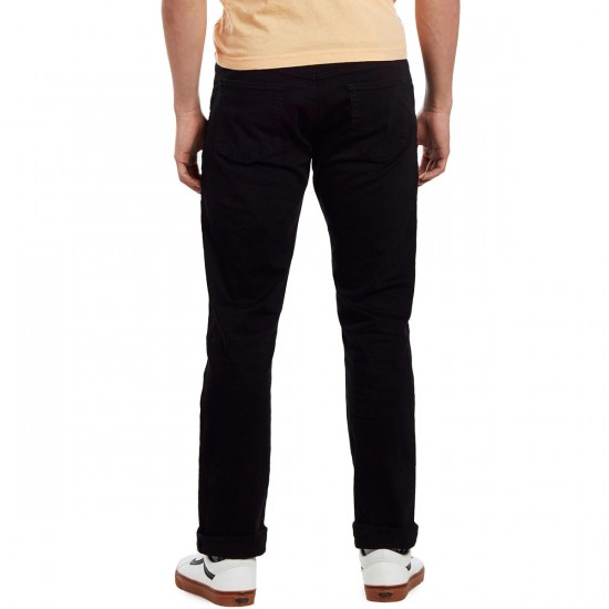 CCS Slim Fit 5 Pocket Twill Pants - Black - 34 - 28
