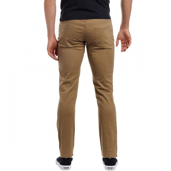 CCS Slim Fit 5 Pocket Twill Pants - Khaki - 28 - 30