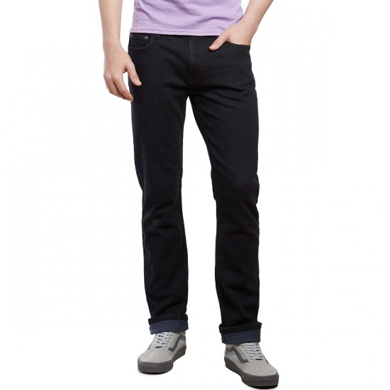CCS Slim Straight Fit Jeans - Washed Black - 40 - 34