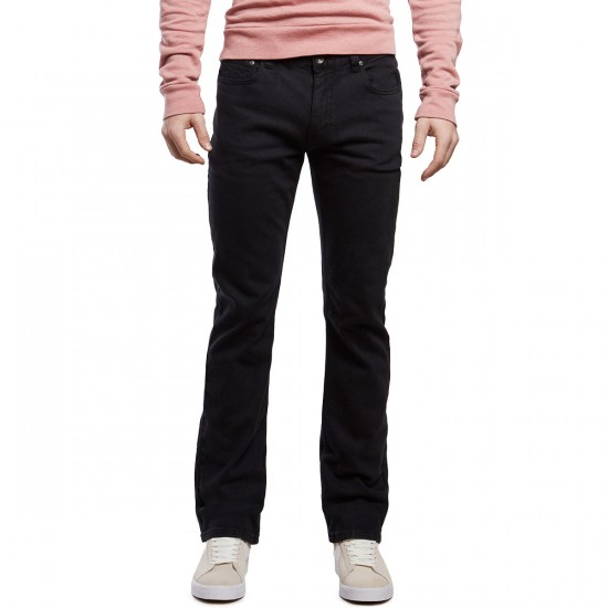 CCS Banks Straight Fit Jeans - Washed Black - 30 - 30