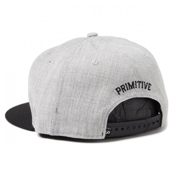 Primitive Timeless P Snapback Hat - Heather Grey