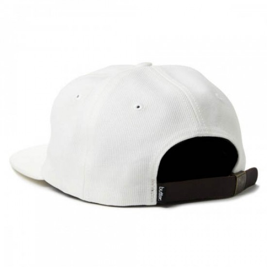 Butter Goods Milan 6 Panel Camp Hat - White