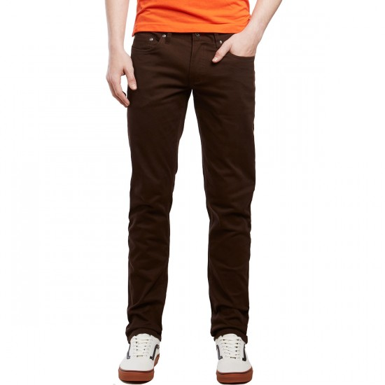 CCS Slim Fit 5 Pocket Twill Pants - Chocolate - 28 - 30