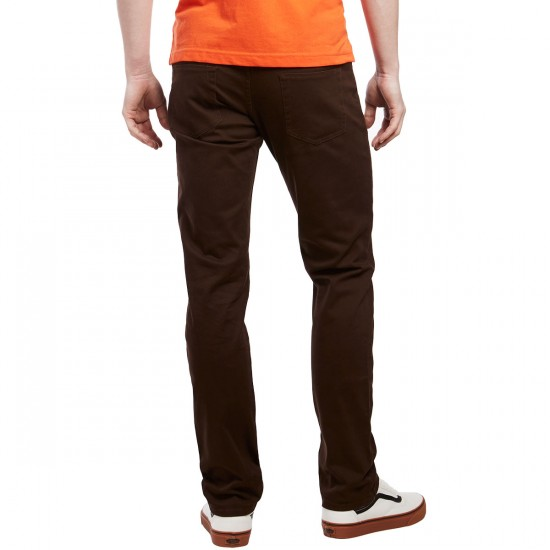 CCS Banks Slim Fit 5 Pocket Twill Pants - Chocolate - 28 - 30