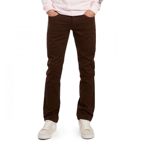 CCS Banks Straight Fit 5 Pocket Twill Pants - Chocolate - 36 - 30
